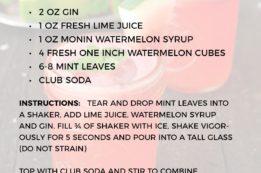 Watermelon Mint Cooler Recipe